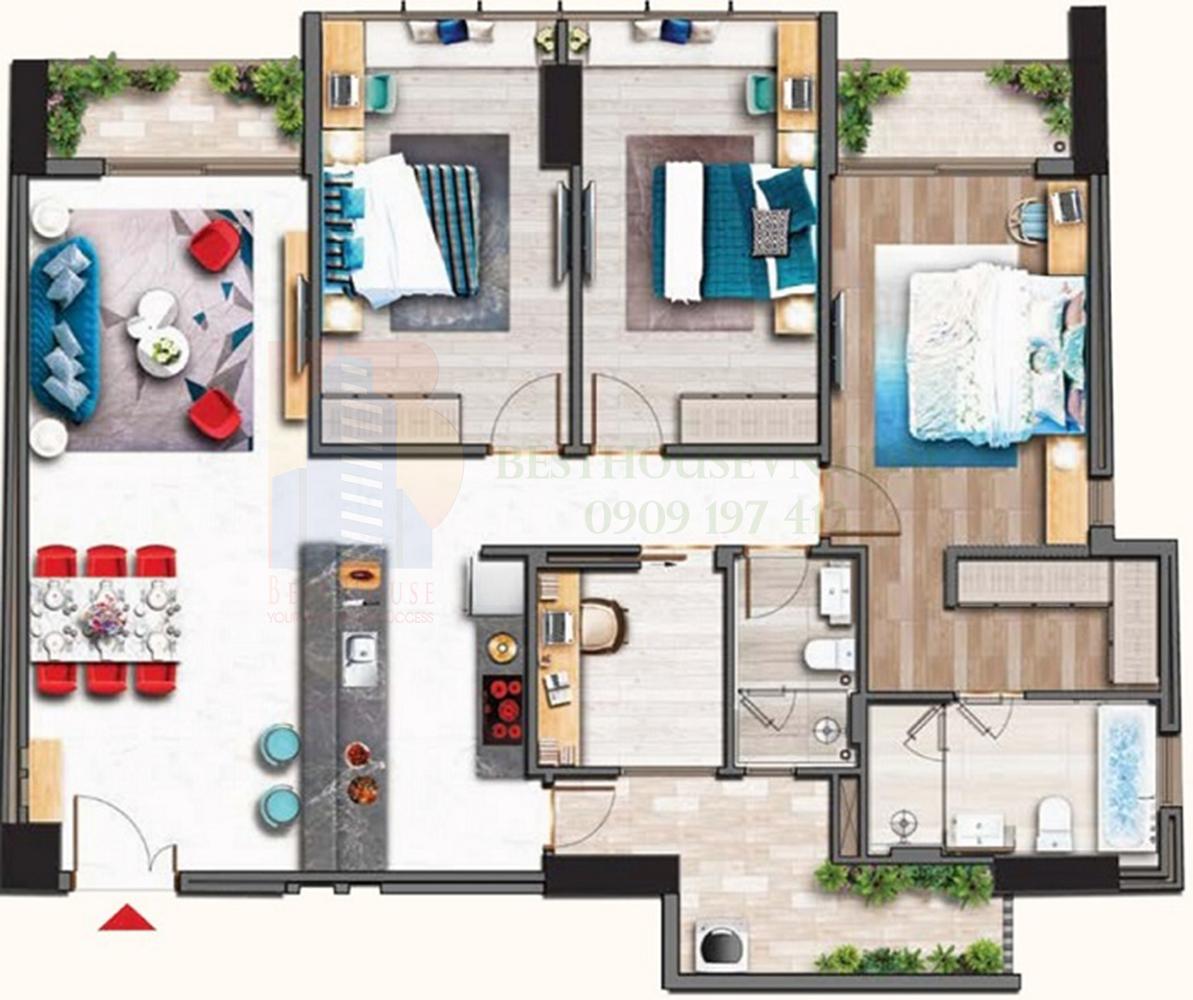 Cần bán gấp căn hộ Midtown M7 3PN